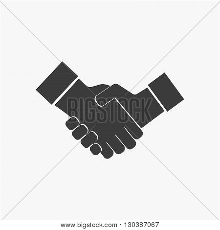 Business handshake icon. Agreement handshake icon for apps and websites