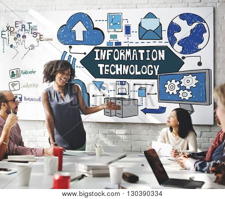 Information Technology System Network Electronic Concept