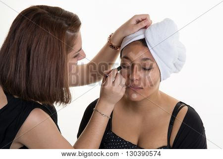 woman's make up by a female  artist