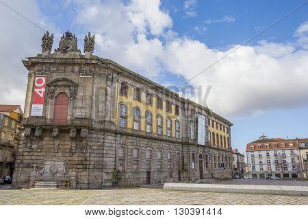 PORTO, PORTUGAL - APRIL 21, 2016: Portuguese Center of Photography in a former prison building in Porto, Portugal