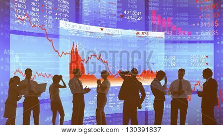 Stock Market Financial Crisis Recession Decrease Concept