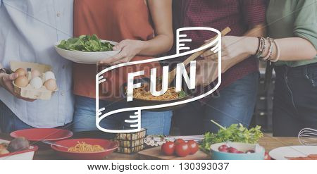 Fun Food Eating Delicious Party Celebration Concept