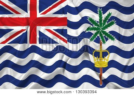 Waving Flag Of British Indian Ocean Territory