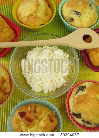 Homemade gluten free muffins from corn flour