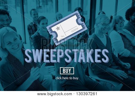 Sweepstakes Chance Betting Gambling Lottery Win Concept