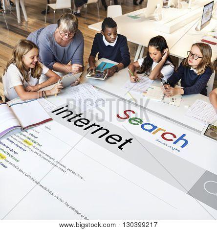 Internet Connection Online Search Engine Optimization Concept