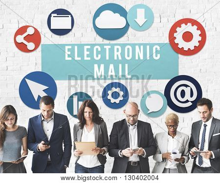 Electronic Mail Online Connection Messaging Concept