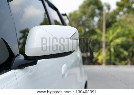 wing mirror of car. car, sun, mirror, drive, night,