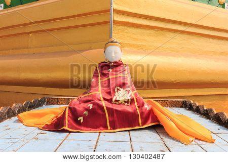 Buddha Statue In Shwe Maw Daw Temple (shwemawdaw Pagoda Temple), Myanmar Or Burma.