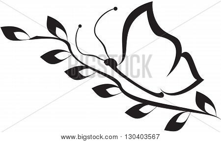 beatiful vector black butterfly can be used for your logo