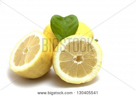 lemons with leaf cherish natural fruit without pesticides