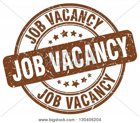 job vacancy brown grunge round vintage rubber stamp