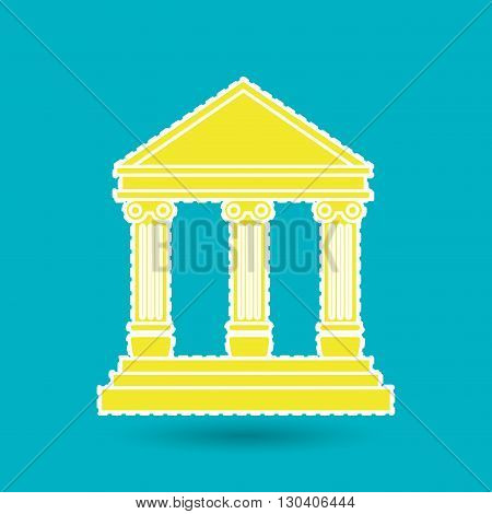court building design, vector illustration eps10 graphic