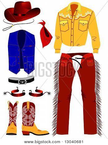 Cowboy clothes .