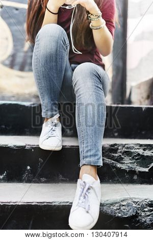 Graffiti Casual Chilling Relaxing Private Style Concept