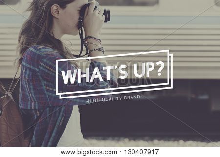 What's Up Message New News Concept