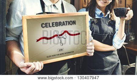 New Business Ribbon Cutting Celebration Event Concept