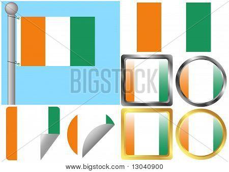 Flag Set Cote d'Ivoire