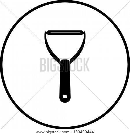 peeler kitchen tool symbol