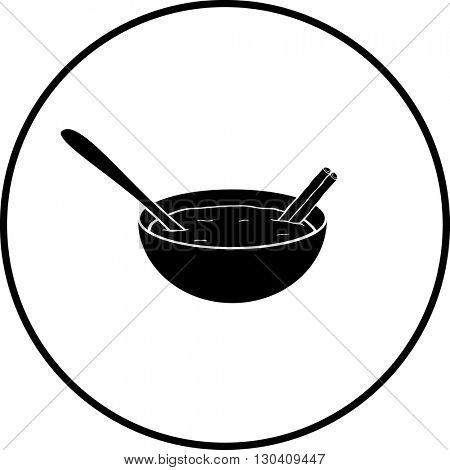 rice pudding with cinnamon symbol