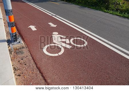 Bike Lane Bicycle Path And Coastal Road