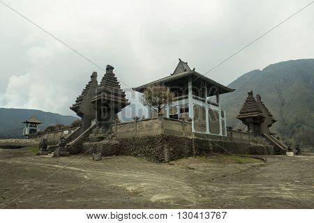 Old Hindu temple near Mt. Bromo on East Java Indonesia