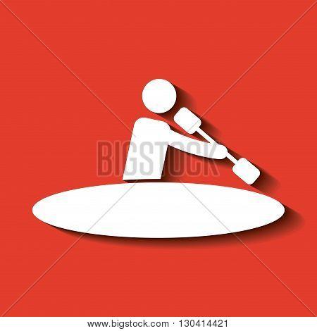 silhouette of sportsman design, vector illustration eps10 graphic