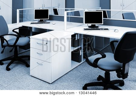 Computers On The Desks
