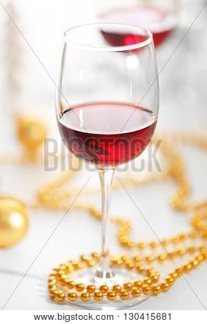 Wineglasses closeup