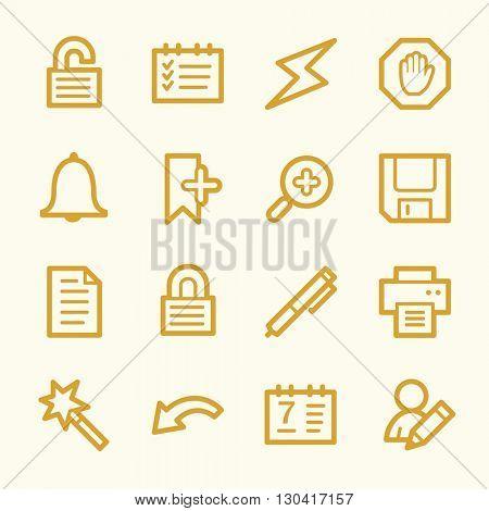 Organizer Web Icons Set