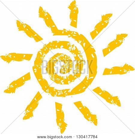Vector sign in the form of a stylized yellow Sun