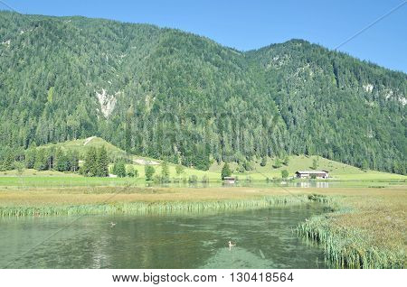 at Lake Pillersee in Pillersee Valley near Kitzbuehel,Tirol,Alps,Austria
