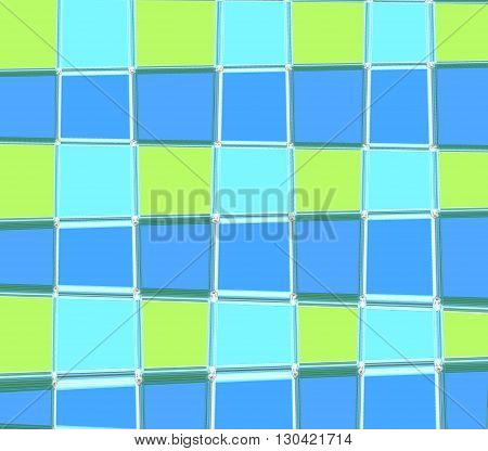 Pattern Square blue and green computer graphic design for copy double to print the product Textile fabric wrapping paper pencils Curtains sheets bedspread shirt or background