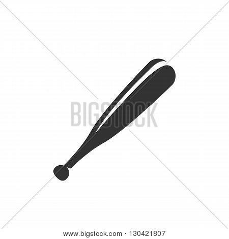 Baseball bat Icon. Baseball bat logo. Vector design element. Abstract emblem, graphic design concept. Logotype element for template. Vector illustration on white background - stock vector