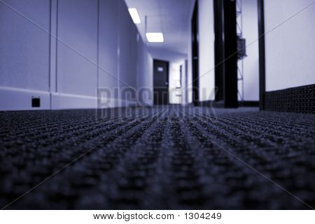 Office Hallway - Blue Tone