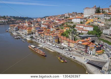 View Over Porto Old Town From The Bridge