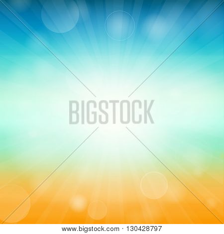Summer time background - illustration of a glowing Summer time background