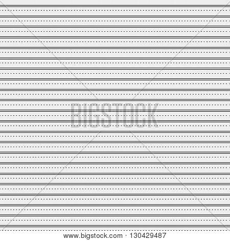 Seamless simple monochrome minimalistic pattern. Modern stylish texture. Straight horizontal lines and dots, simple