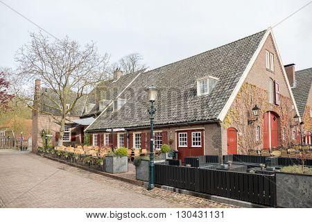 NETHERLANDS - BRONCKHORST - APRIL 2016: Hotel Gouden Leeuw in the smallest city in the Netherlands.