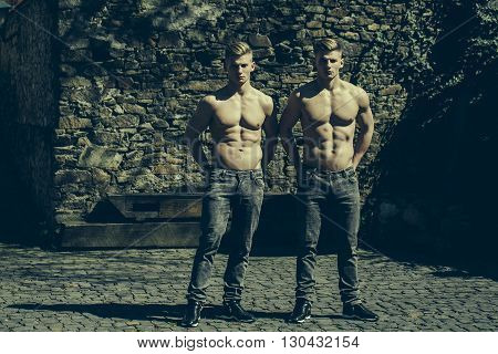 Sexy Athletic Young Twins