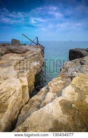 Cliffs of the Portland island in Dorset, UK
