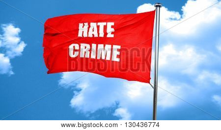Hate crime background, 3D rendering, a red waving flag