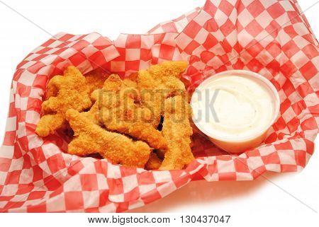 Dinosaur Shaped Chicken Strips with Dipping Sauce
