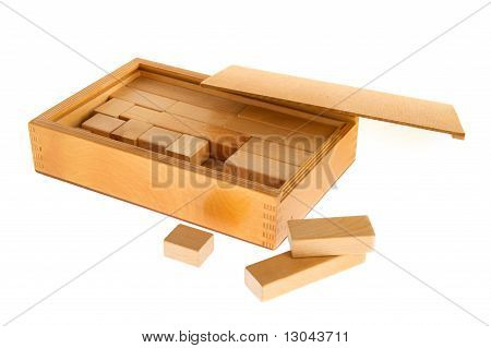 Wooden Box With Blocs