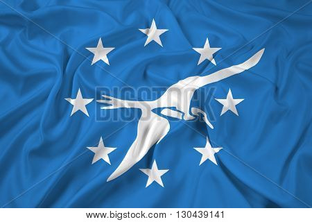 Waving Flag of Corpus Christi Texas, with beautiful satin background