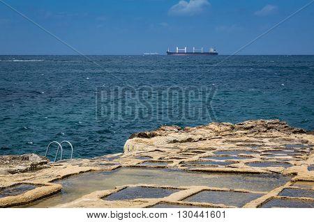 Salt Pans In Marsaskala, Malta