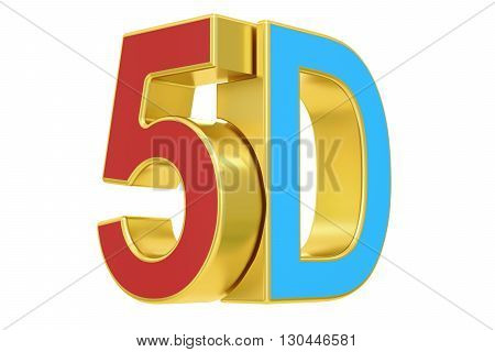 5D logo 3D rendering isolated on white background
