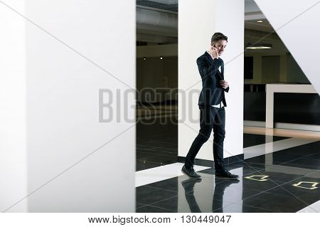 Busy Man Talking On The Phone