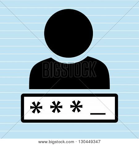 security password  design, vector illustration eps10 graphic