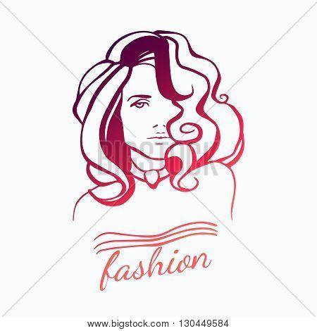 Beauty Female Face Logo Design. Creative Woman Face Vector. Hair Salon Logo. Abstract business concept for beauty salon barber shops massage cosmetic and spa. Vector logo design template